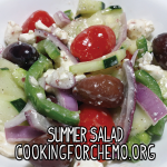 summer salad pepper tomato cucumber cooking for chemo cancer cookbook easy delicious healthy recipes
