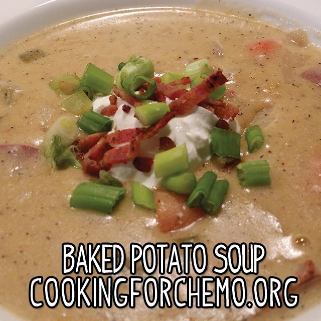 baked potato soup easy delicious healthy cancer cooking recipes