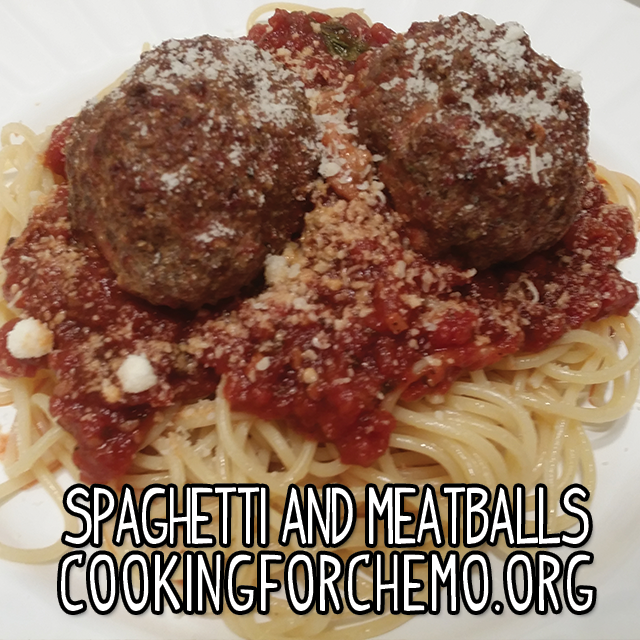 Spaghetti Meatballs Marinara Parmesan Pasta Easy Delicious Healthy Cancer Cooking Recipes