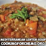 mediterranean lenten soup lentils