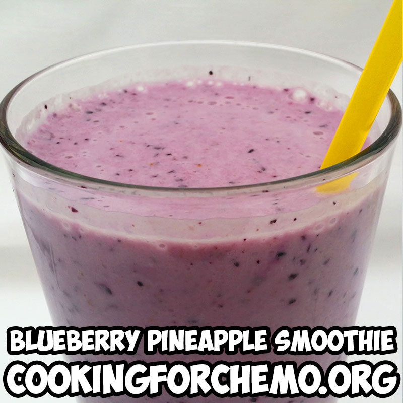 blueberry pineapple smoothie picture