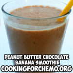 peanut butter chocolate banana smoothie