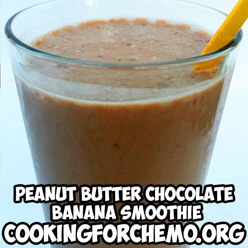 Peanut Butter Chocolate Banana smoothie picture