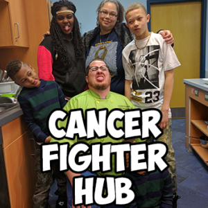 cancer fighter hub button