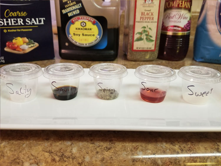 mixing the five flavors